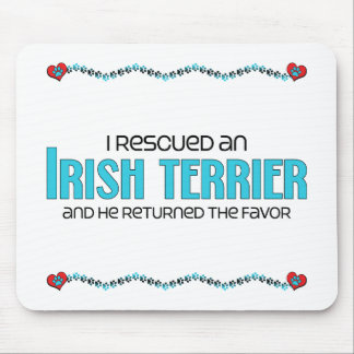 I Rescued an Irish Terrier (Male Dog) Mouse Pad