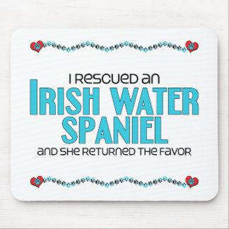 I Rescued an Irish Water Spaniel (Female Dog) Mouse Pad