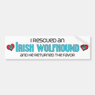 I Rescued an Irish Wolfhound (Male Dog) Bumper Sticker
