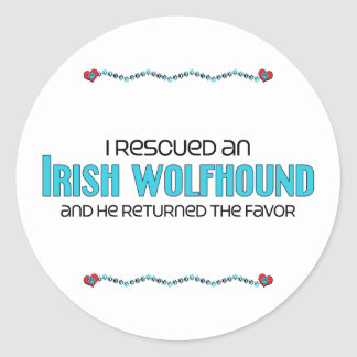 I Rescued an Irish Wolfhound (Male Dog) Stickers