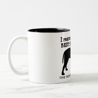 I Rescued My Best Friend Dog Mug