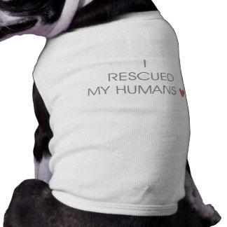I RESCUED MY HUMANS <3 SLEEVELESS DOG SHIRT