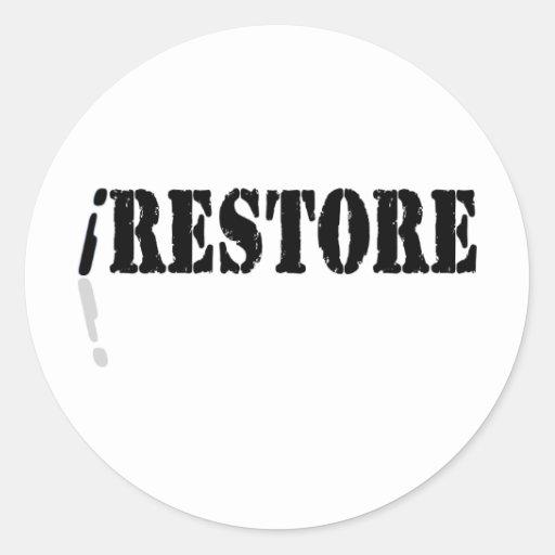 I Restore Round Stickers