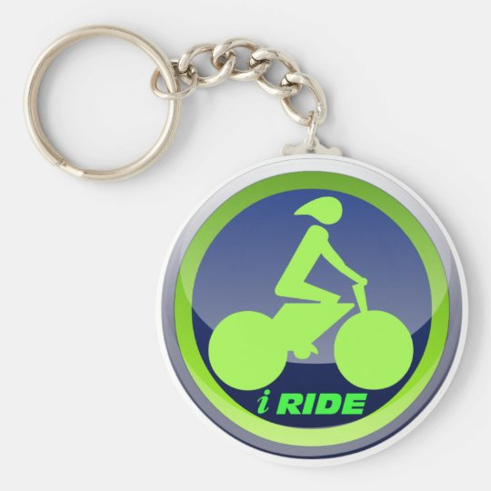 I Ride Cycling Keychain