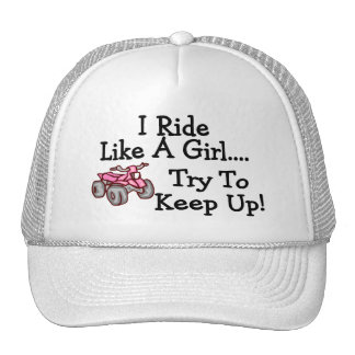 I Ride Like Quads A Girl Try To Keep Up Mesh Hat
