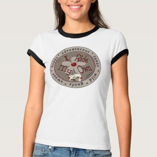 I Ride My Own-Cirle (Black Ringer) T-Shirt
