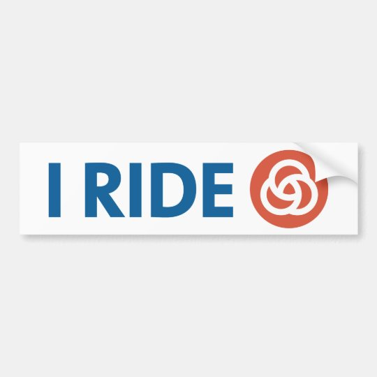 I RIDE [TRIMET] BUMPER STICKER