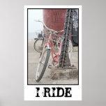 I Ride Vintage Bicycles Print