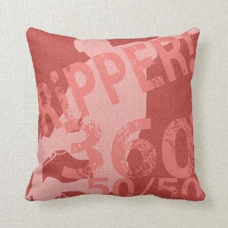 I Ripper Skateboard Pillow Burnt Coral Cushions