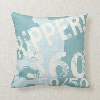 I Ripper Skateboard Pillow Seafoam Cushion