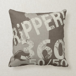 i-Ripper Taupe Pillow Reversable Throw Throw Cushion