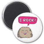 I Rock, Cute Cartoon Rock Humor Magnets
