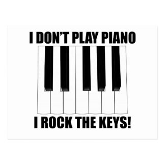 I Rock The Keys Postcard