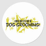 I ROCK THE S#%! - DOG GROOMING ROUND STICKERS