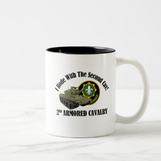 I Rode With The 2nd Cav! - 2nd ACR M551 Two-Tone Coffee Mug