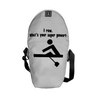 I Row What s Your Super Power Courier Bags