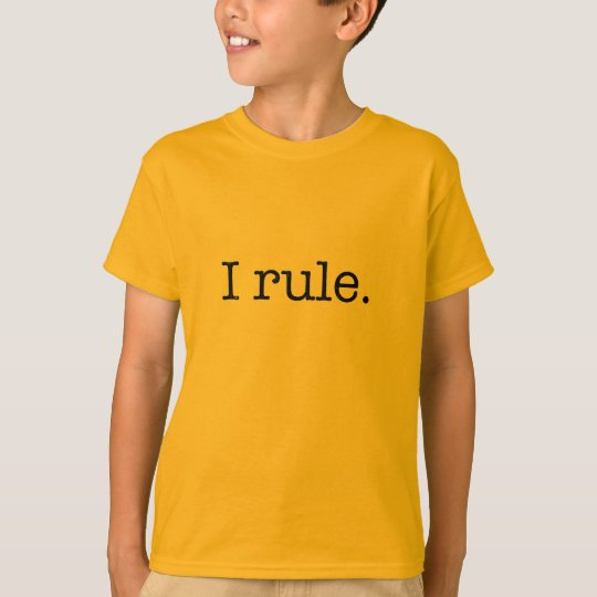 I rule KID TEE (black font)