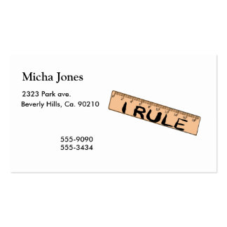 I Rule Ruler Double-Sided Standard Business Cards (Pack Of 100)
