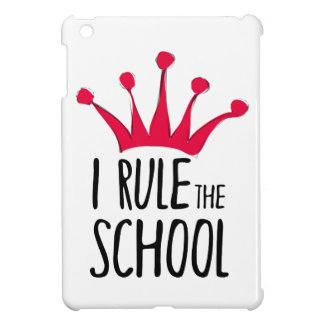 """I rule the school"" sign with pink crown, iPad Mini Cases"