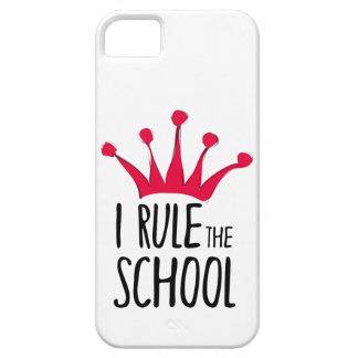 """""""I rule the school"""" sign with pink crown, iPhone 5 Covers"""
