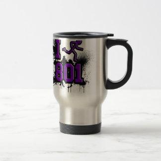 I Run 801 Purp/Blck Stainless Steel Travel Mug