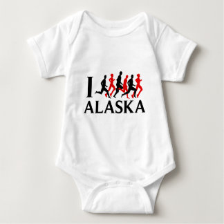 I RUN ALASKA BABY BODYSUIT