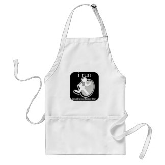 i Run Because Brain Cancer Matters Adult Apron
