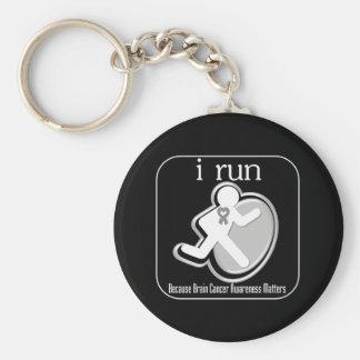 i Run Because Brain Cancer Matters Basic Round Button Key Ring