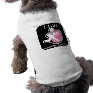 i Run Because Breast Cancer Matters 2 Sleeveless Dog Shirt
