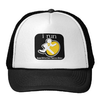 i Run Because Childhood Cancer Matters Hats