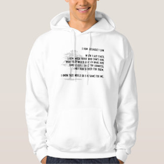 I Run Because I Can Hoodie - Light Colors