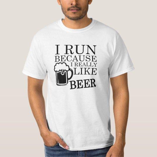 I Run because I really like Beer funny