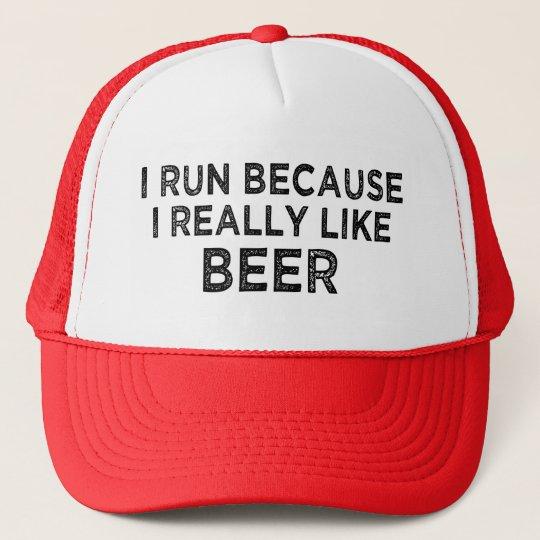 I run because I really like beer trucker