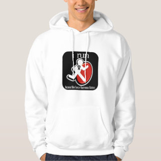 i Run Because Skin Cancer Matters Hoodie