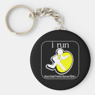 i Run Because Suicide Prevention Matters Keychain