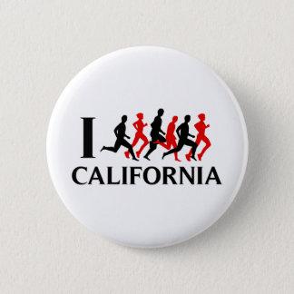 I RUN CALIFORNIA 6 CM ROUND BADGE
