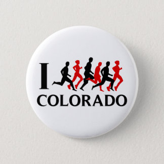 I RUN COLORADO 6 CM ROUND BADGE