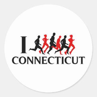 I RUN CONNECTICUT STICKER