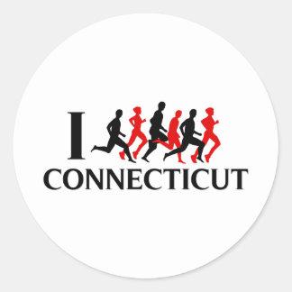 I RUN CONNECTICUT STICKERS