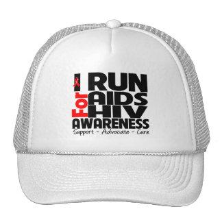 I Run For AIDS HIV Awareness Cap