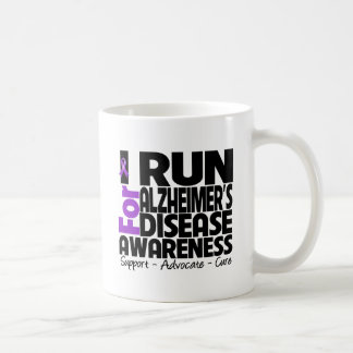 I Run For Alzheimers Disease Awareness Mugs