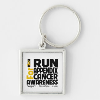 I Run For Appendix Cancer Awareness Key Chains