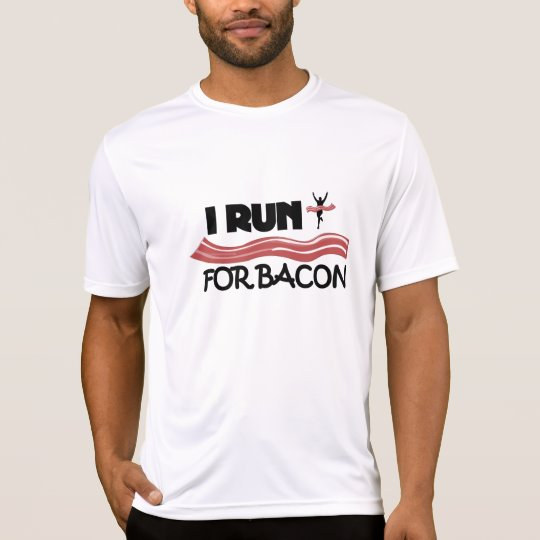I Run For Bacon - Fitted Double-Dry Running