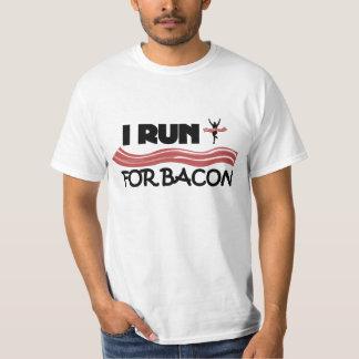 I Run for Bacon - Funny Running Shirt