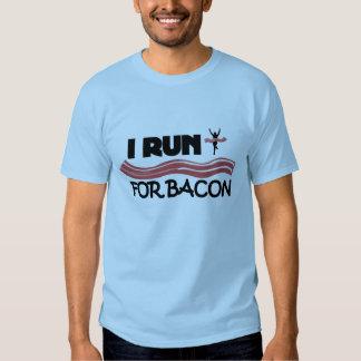 I Run for Bacon - Funny Running Shirt for Men