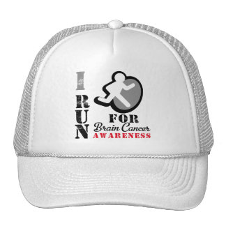 I Run For Brain Cancer Awareness Cap