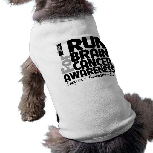 I Run For Brain Cancer Awareness Pet Tee Shirt