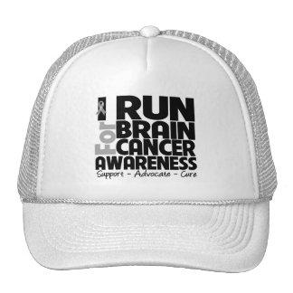I Run For Brain Cancer Awareness Mesh Hats