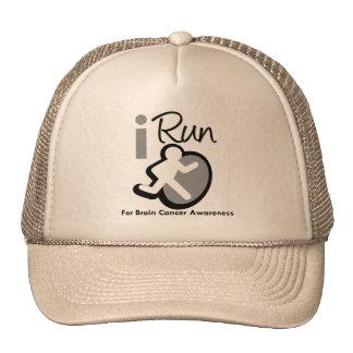 I Run For Brain Cancer Awareness Trucker Hat