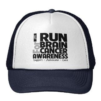 I Run For Brain Cancer Awareness Trucker Hats